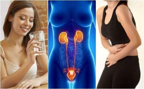 Femeie care ia antibiotice pentru infecțiile de tract urinar