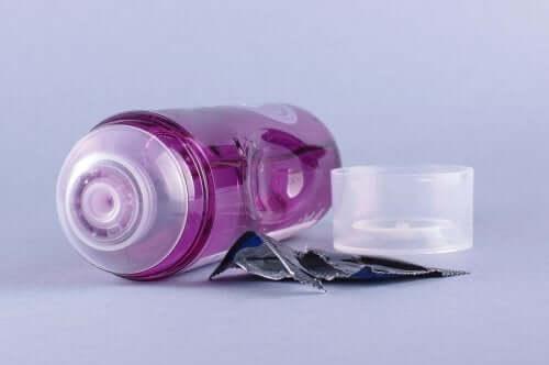 Sticlă cu lubrifiant