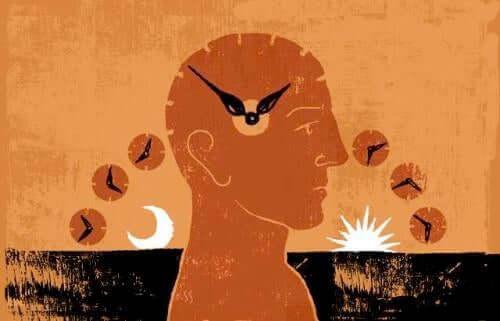 Desen ilustrând trecerea orelor