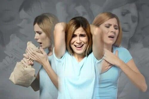 Fată care suferă de anxietate