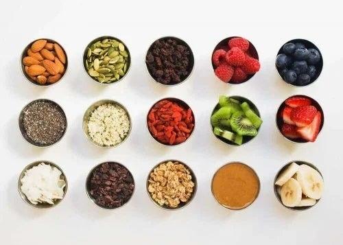 Ingrediente pentru smoothie bowl