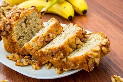Rețete de pâine cu banane preparate acasă