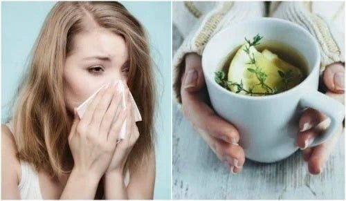 Femeie răcită care are nevoie de ceai