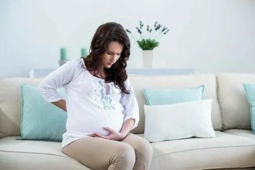 Gravidă care are dureri