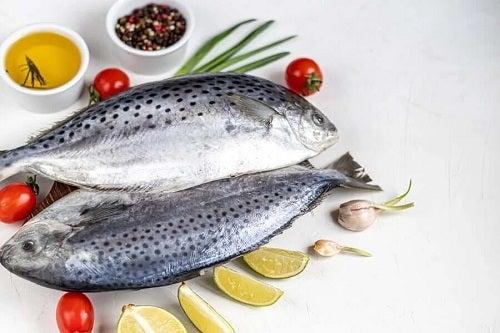 Pește proaspăt inclus în dieta atlantică