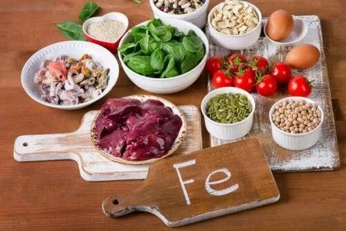 Alimente care conțin fier