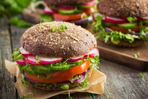 Burger vegan delicios