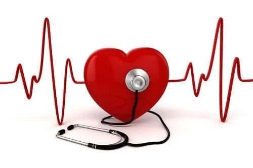 Inimă cu stetoscop pe ea
