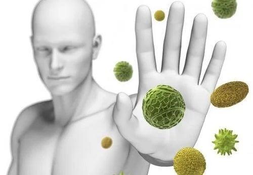 Persoană care respinge microbii