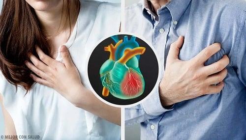 Simptomele unui infarct la femei și bărbați
