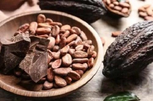 Boabe de cacao și ciocolată