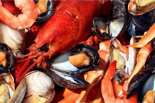 Diverse tipuri de fructe de mare