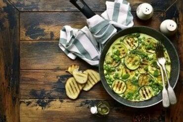 Rețetă de omletă vegană cu zucchini