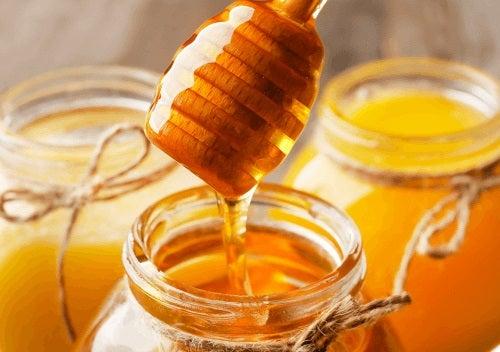 Borcan cu miere de albine
