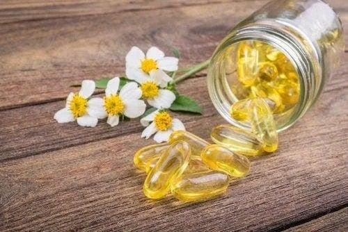 Capsule de vitamina E uleioasă