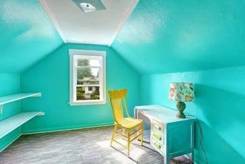Culori la modă pentru casă în zona de studiu