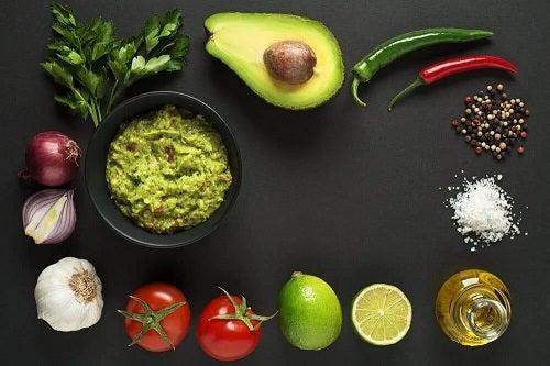 Ingrediente pentru tacos cu creveți