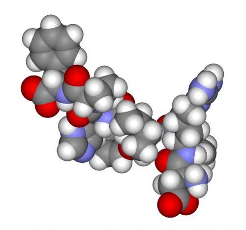 Moleculă de hormon androgen