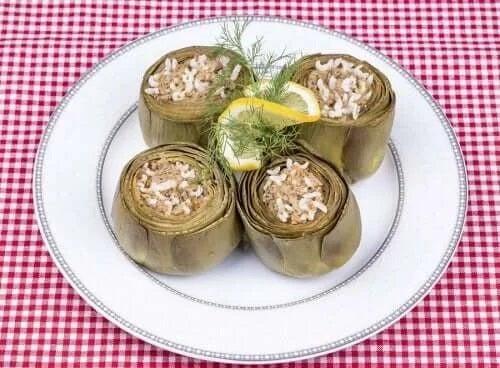 Anghinare umplute cu orez