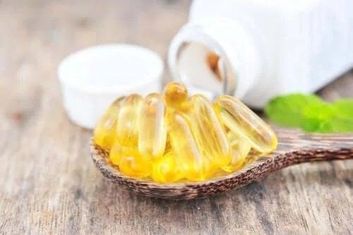 Capsule de vitamina E