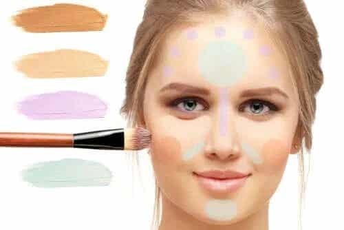 Machiajul de corectare a culorii pielii: procedură