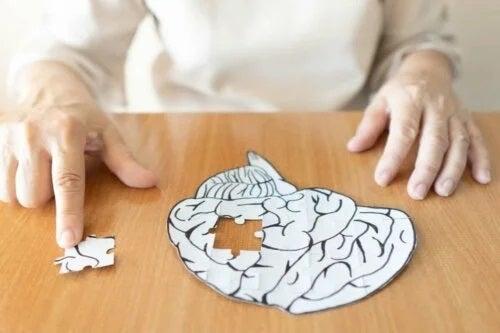 Puzzle cu creierul uman