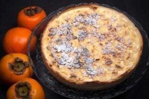 Rețetă de tartă de ciocolată și kaki