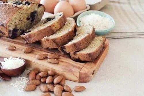 Pâine cu făină de migdale și cocos delicioasă