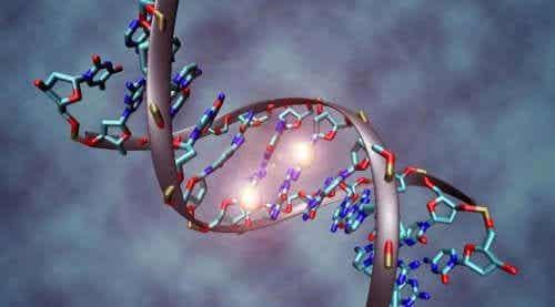 Desen ilustrând ADN afectat de mutații