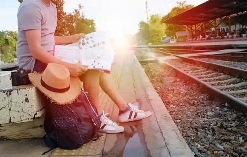 Persoană afectată de frica de a călători