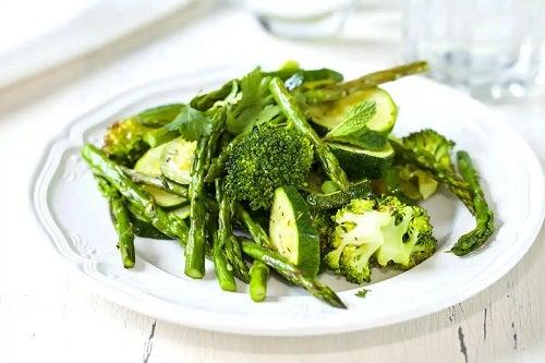 Alimente incluse în dieta mediteraneană verde