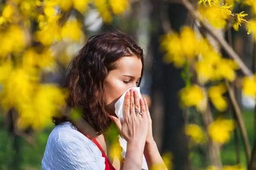 Femeie cu alergii