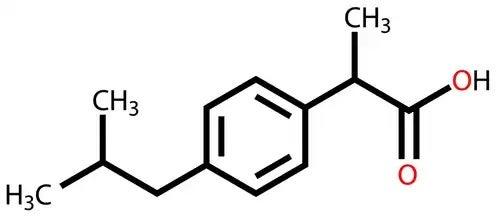 Molecula de ibuprofen