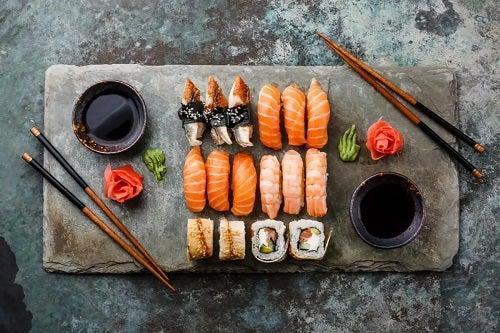 Platou cu sushi