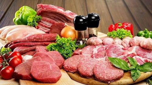 Diferite tipuri de carne roșie