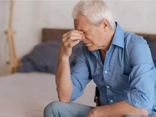 Bărbat foarte trist