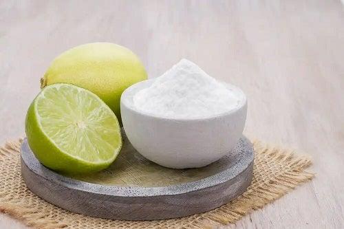 Lămâie și bicarbonat de sodiu